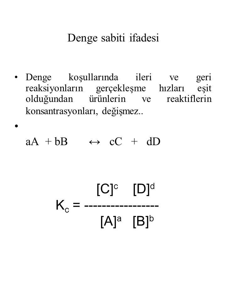 Kc = ----------------- [A]a [B]b